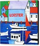 White Lobster Shack Canvas Print
