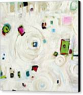 White On White Abstract Canvas Print