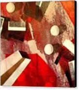 White Runaway Dots Canvas Print