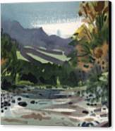 White Water On The White River Canvas Print by Donald Maier
