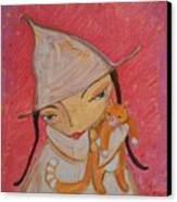 White Witch And Kitty Poo Canvas Print