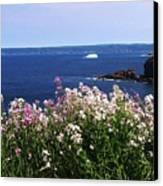 Wild Flowers And Iceberg Canvas Print