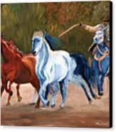 Wild Horse Roundup Canvas Print
