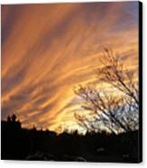 Wild Sky Of Autumn Canvas Print