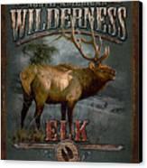 Wilderness Elk Canvas Print by JQ Licensing