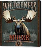 Wilderness Moose Canvas Print by JQ Licensing