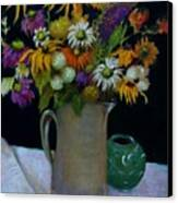 Wildflowers In Black                           Copyrighted Canvas Print