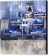 Williams Bmw Fw24 2002 Juan Pablo Montoya Canvas Print by Yuriy  Shevchuk