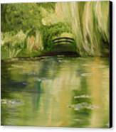 Willow At Monet Canvas Print