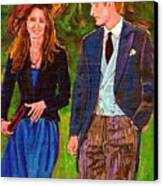 Wills And Kate The Royal Couple Canvas Print by Carole Spandau