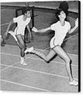 Wilma Rudolph 1940-1994 At The Finish Canvas Print by Everett