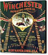 Winchester Double W Cartridge Board Canvas Print