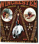 Winchester W Cartridge Board Canvas Print