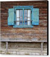Window And Bench Canvas Print by Yair Karelic