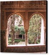 Window In La Alhambra Canvas Print