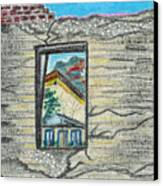 Window Jerome Az Canvas Print