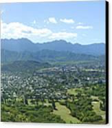 Windward Oahu Panorama I Canvas Print