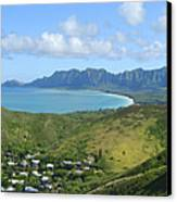 Windward Oahu Panorama IIi Canvas Print by David Cornwell/First Light Pictures, Inc - Printscapes
