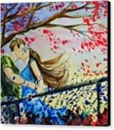 Windy Kiss Canvas Print