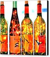 Wine Bottle Lights Canvas Print