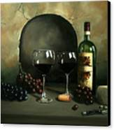 Wine For Two Canvas Print by Paul Walsh