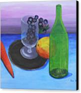 Wine Glass And Fruits Canvas Print by Jose Valeriano