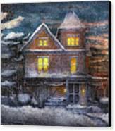 Winter - Clinton Nj - A Victorian Christmas  Canvas Print