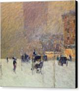 Winter Afternoon In New York Canvas Print