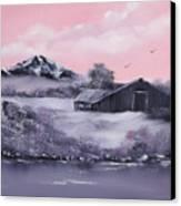 Winter Barns Canvas Print by Cynthia Adams