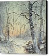 Winter Breakfast Canvas Print