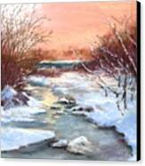 Winter Brook Canvas Print by Jack Skinner