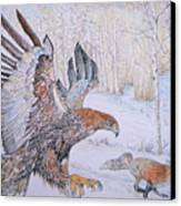 Winter Chase Canvas Print by Yvonne Johnstone