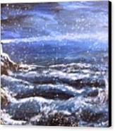 Winter Coastal Storm Canvas Print by Jack Skinner