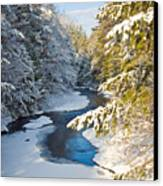 Winter Creek In Morning Light Canvas Print