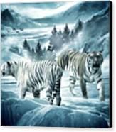 Winter Deuces Canvas Print by Lourry Legarde