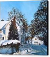 Winter Drive Canvas Print