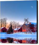 Winter In New England Canvas Print by Michael Petrizzo