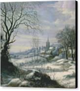 Winter Landscape Canvas Print by Daniel van Heil