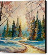 Winter Landscape Knowlton Quebec Canvas Print