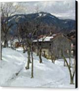 Winter Landscape Near Kutterling Canvas Print