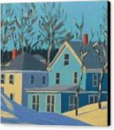 Winter Linden Street Canvas Print by Laurie Breton