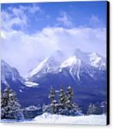 Winter Mountains Canvas Print by Elena Elisseeva
