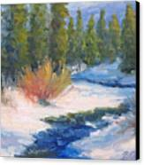Winter On Gore Creek Canvas Print