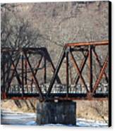 Winter On Knapps Creek Canvas Print