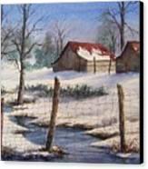 Winter Out Buildings Canvas Print