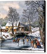 Winter Pastime, 1870 Canvas Print by Granger