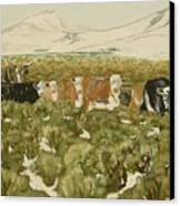 Winter Range Canvas Print