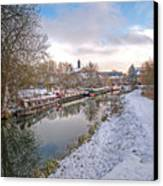 Winter Reflections On The River Canvas Print