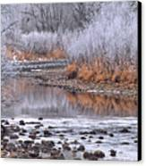 Winter River Canvas Print by Bruce Gilbert