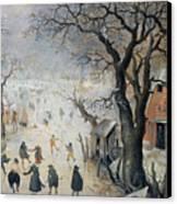 Winter Scene Canvas Print by Hendrik Avercamp